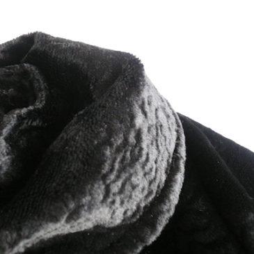 60's black velvet coat