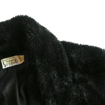 80〜90's black boa coat