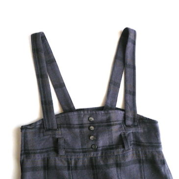 80~90'S salopette skirt
