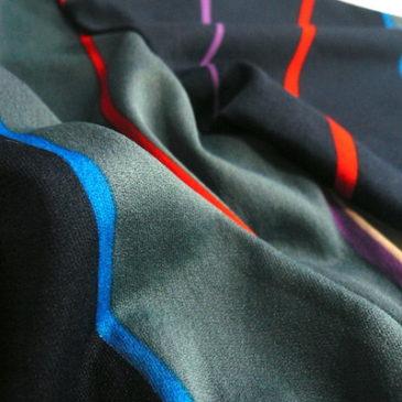 70's horizontal stripe dress