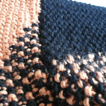 80's orange black knit sweater