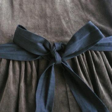 70〜80's coduroy jumper dress