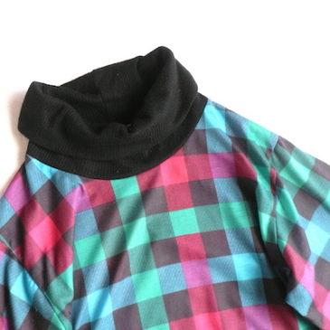 70〜80's AVON plaid dress
