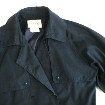 90's navy trench coat