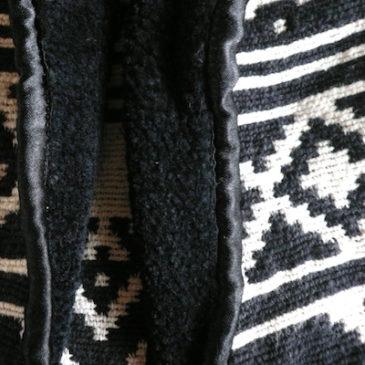 90's native pattern short JKT & late80〜90's high waist denim skirt