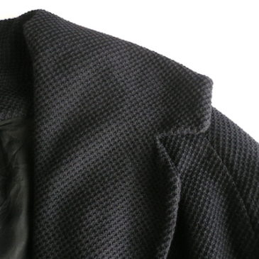60's big collar black spring coat