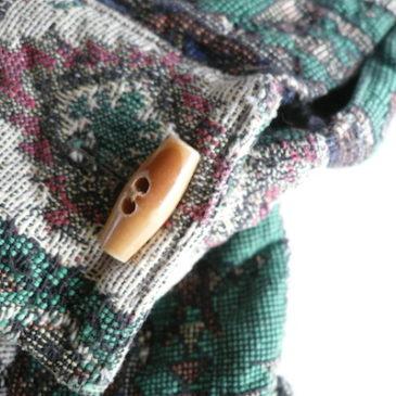 90's green gobelins weave jacket