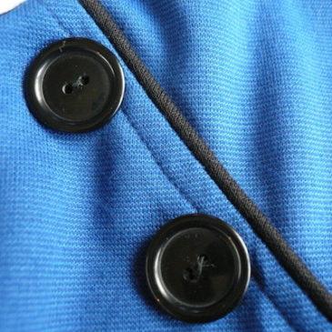 80's button blue dress