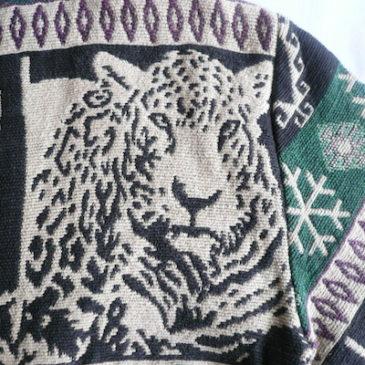 90's leopard gobelins weave jacket