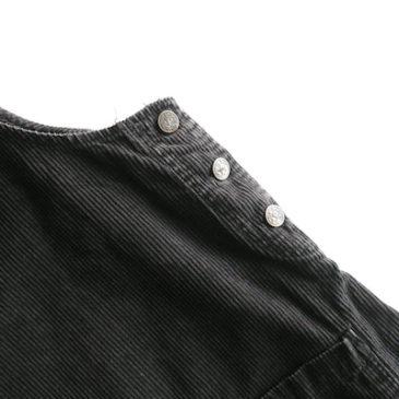 90's charcoal gray corduroy salopette skirt