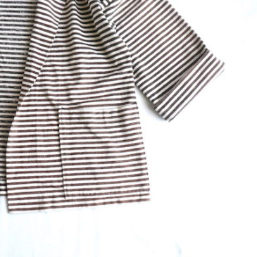 70's horizontal stripe beach jacket