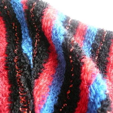 90's〜 pile stripe tops & peacock blue long skirt