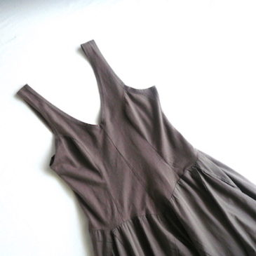 used brown tank top dress
