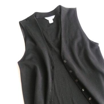 90's black sleeveless dress & white cotton turtle neck