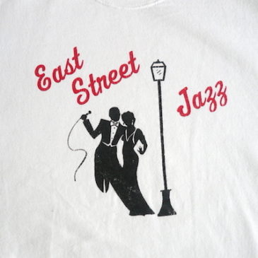 90's east street jazz sweat shirts & hickory stripe easy pants