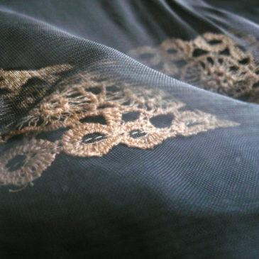 50's black sheer dress