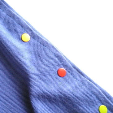 90's colorful snaps tank dress