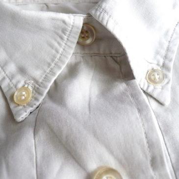 60's cotton button down shirts & orange rayon taight skirt