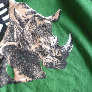 90's〜 animal printed green shirts