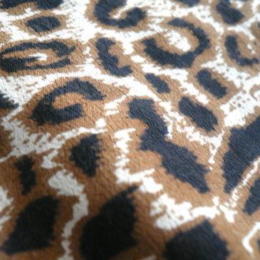 90's〜 leopard pattern rayon shirt