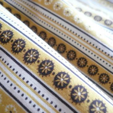 60's yellow pattern cotton dress