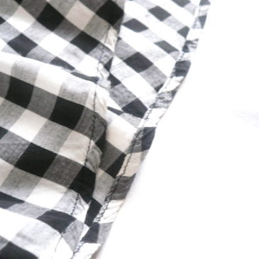 used gingham check summer dress