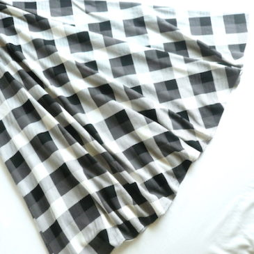 70's〜 monotone check maxi dress