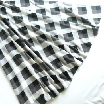 70's〜 monotone check maxi dress