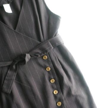 90's pin stripe jumper dress