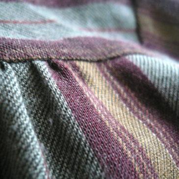 70's bordeaux bow stripe dress