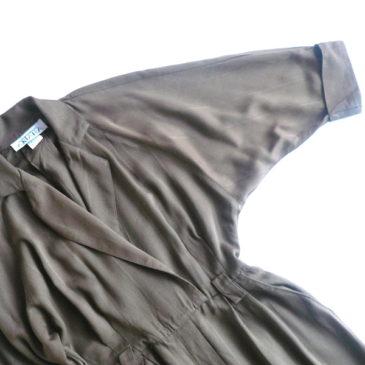 80's brown stripe dress