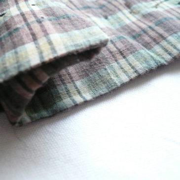 70's sears green sweat shirt & 60's brown plaid skirt