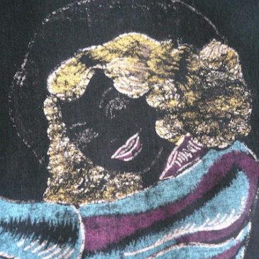 70〜80's fringe cow girl black shirt