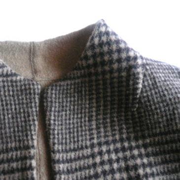 used reversible plaid wool JKT