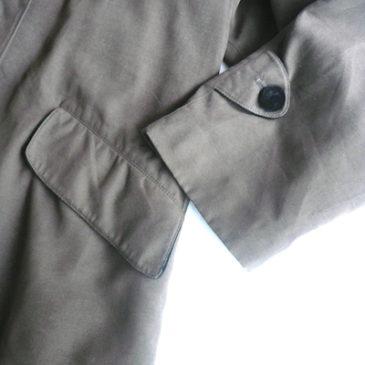 90's ANNE KLEINE Ⅱ velour collar bark brown coat