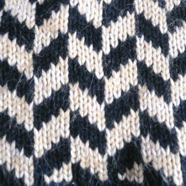 used herringbone off turtleneck sweater