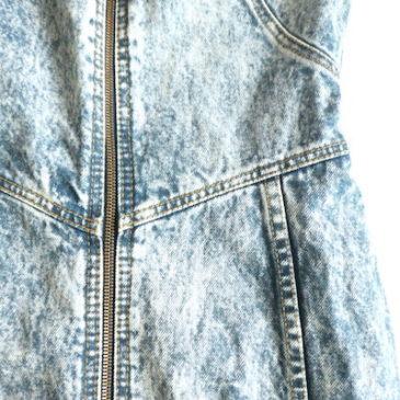 80's zip-up denim dress