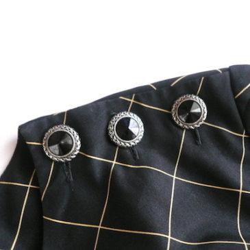 used beige bolero jacket & 80〜90's graph check one-piece dress