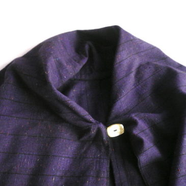70〜80's purple long poncho
