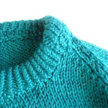 used seagreen knit sweater