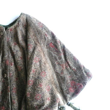 used gobelin tapestry cape & 40's black wool side line slacks