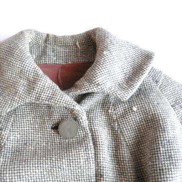 50's light gray wool tweed coat