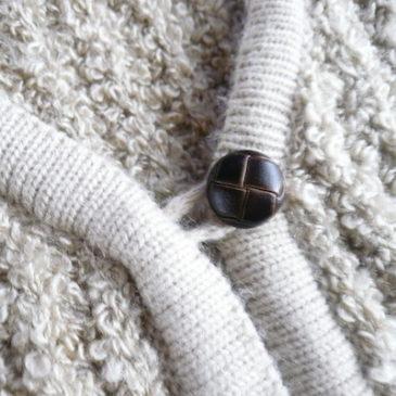 80's sand beige knit vest