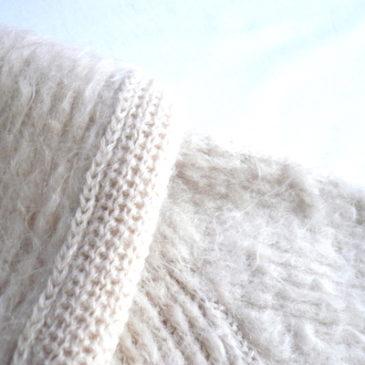 70's mohair long knit cargigan