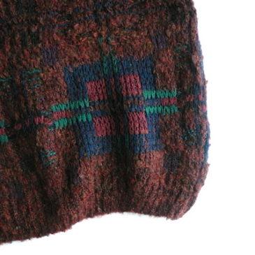 70〜80's brown plaid vest