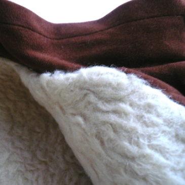60's boa brown half coat
