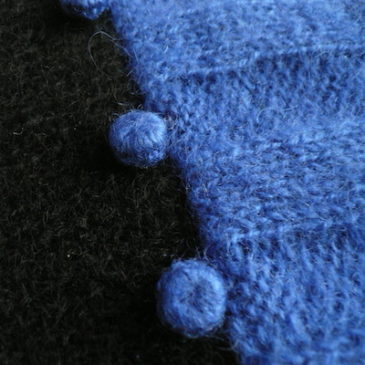 80's blue black mohair knit sweater