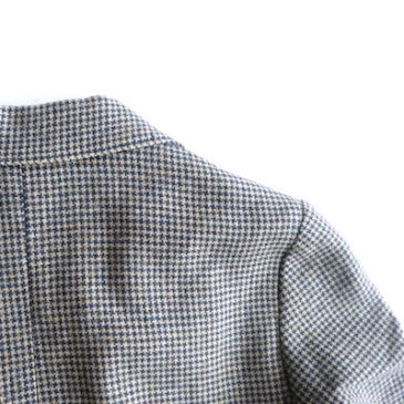 70~80's hands tooth check wool jacket