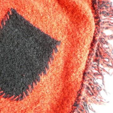 used red black fringe zip up hoodie
