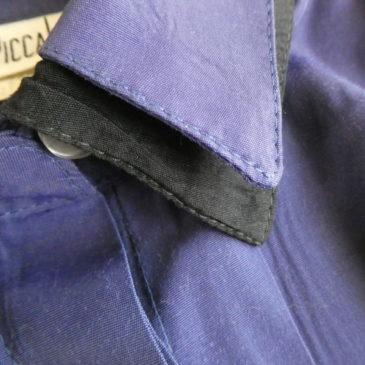 80's purple black one-piece dress